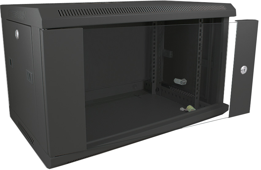 Datacel 6U 390mm deep wall mounded data cabinet